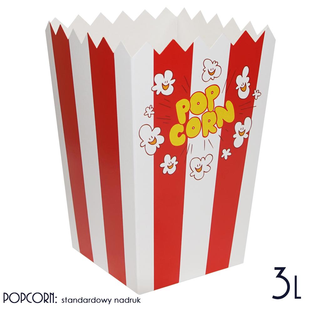 Kubek na Popcorn Kartoniki Opakowania na Popcorn duże 3 litry